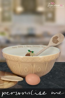 Personalised Pudding Mixing Bowl And Spoon by Signature PG