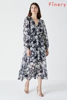 Finery Martel Printed Long Sleeve Dress