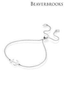 Beaverbrooks Sterling Silver Anchor Slider Bracelet