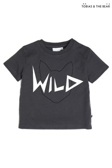 Tobias & The Bear Grey Wild Organic Cotton T-Shirt