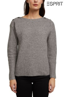 Esprit Womens Grey Long Sleeve Sweater
