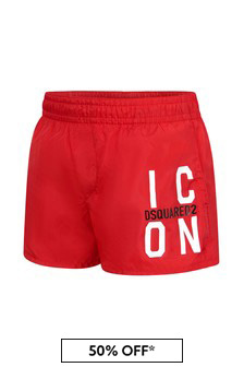 Dsquared2 Kids Baby Boys Red Swim Shorts