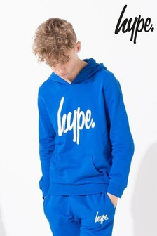 Hype. Blue Script Kids Pullover Hoody