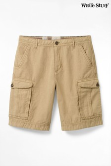 White Stuff Natural Tilbury Linen Mix Cargo Shorts