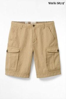 White Stuff Natural Tilbury Linen Mix Cargo Shorts