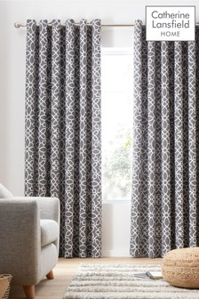 Lattice Eyelet Curtains by Catherine Lansfield