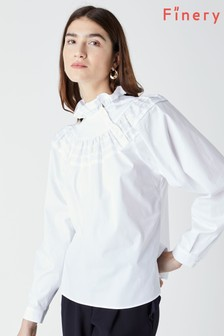 Finery White Jaymee Cotton Blouse