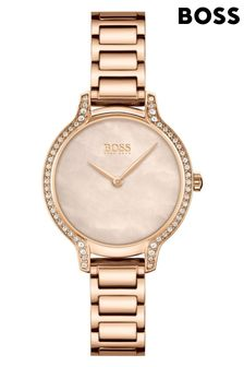 BOSS Gala Carnation Gold IP Bracelet Watch