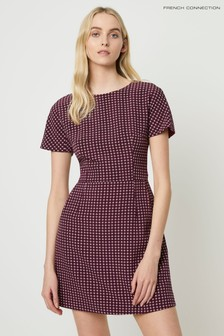 French Connection Purple Bettina Stretch Dress