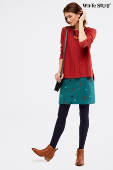 White Stuff Teal New Crabapple Skirt