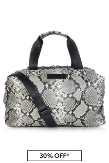 Tiba + Marl Tonal Grey Snake RAF Holdall Changing Bag