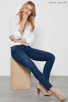 Mint Velvet Houston Indigo Distressed Jeans