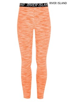River Island Orange Active Grindle Leggings