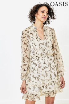Oasis Natural Blossom Floral Lace Dress