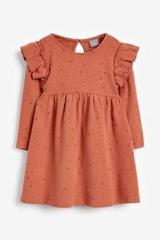 Star Print Cozy Fabric Dress (3mths-7yrs)