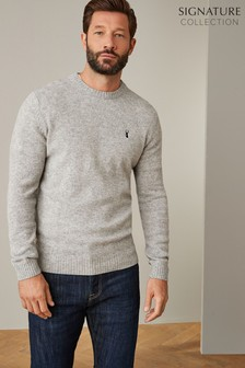 Signature Lambswool Crew Jumper