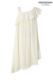 Monsoon White Willabelle Asymmetric Dress