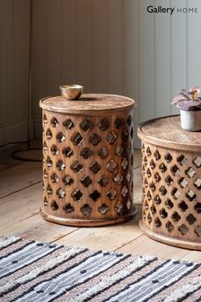 Jaipur Natural Coloured Side Table By Hudson Living