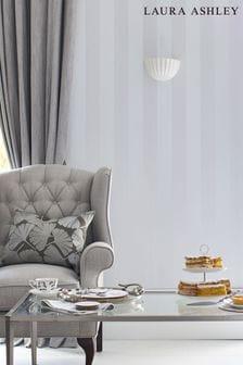 Laura Ashley Lille Pearlescent Stripe Wallpaper