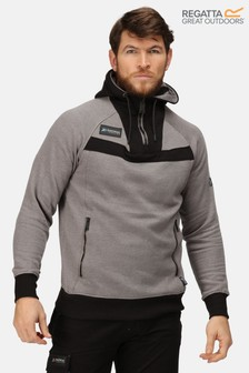 Regatta Grey Assault Half Zip Hoody