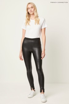 French Connection Black Celina Faux Leather Leggings