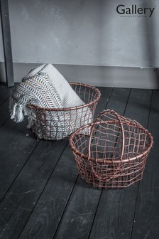 Set of 3 Dixon Copper Metal Storage Baskets by Gallery Direct