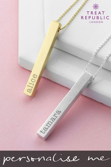 Personalised Bar Necklace by Treat Republic