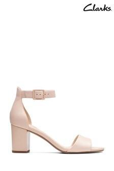 Clarks Blush Leather Deva Mae Sandals