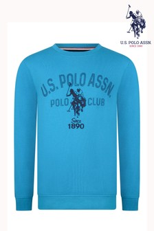 U.S. Polo Assn. Dotty Graphic Crew Sweatshirt