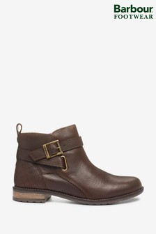 Barbour® Brown Leather Jane Ankle Boots
