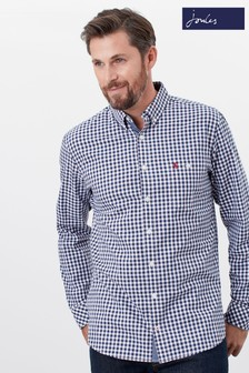 Joules Long Sleeve Classic Fit Peached Poplin Shirt