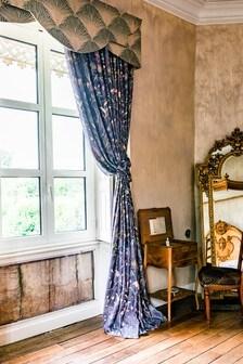 The Chateau by Angel Strawbridge Wildflower Garden Pencil Pleat Curtains