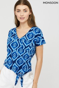 Monsoon Blue Maya Tie Dye T-Shirt