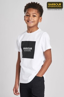 Barbour® International Boys Block Logo T-Shirt