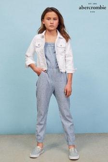 Abercrombie & Fitch Blue Jumpsuit