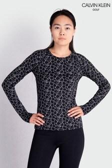 Calvin Klein Golf Black Vibe Longsleeved T-Shirt