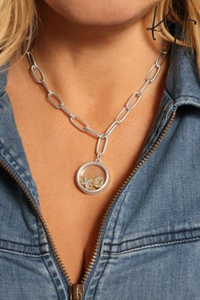 Kate Thornton 'Celestial Love' Floating Locket Necklace