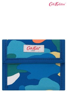 Cath Kidston® Blue Camouflage Kids Folding Wallet