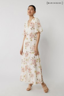 Warehouse Multi Sia Floral Chiffon Maxi Dress
