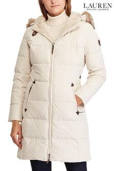 Lauren Ralph Lauren® Cream Down Padded Coat