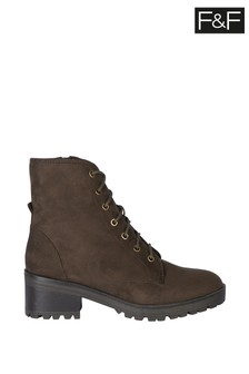 F&F Brown Hiker Choc Boots