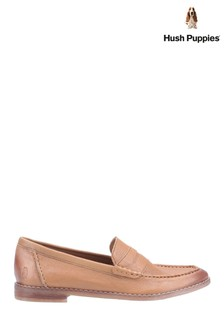 Hush Puppies Tan Wren Slip-On Loafers