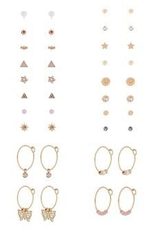 Accessorize Gold 20 X Pretty Stuff Pack Earrings