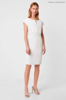 French Connection White Boh Whisper Short Sleeve Dress