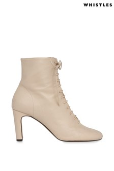 Whistles Stone Dahlia Lace-Up Boots