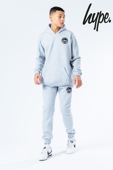 Hype. Grey Crest Kids Hoodie And Joggers Set