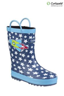 Cotswold Blue Sprinkle Junior Wellington Boots