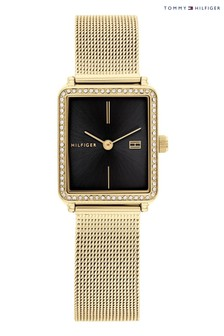 Tommy Hilfiger Gold Watch With Black Dial