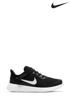 Nike Run Black/White Revolution Fly Ease Junior Trainers