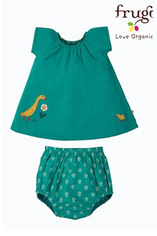 Frugi Green Ducks Organic Cotton Tunic And Pants Set
